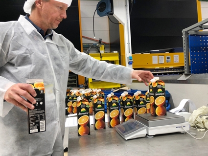 Justervesenet utfører tilsyn med produksjonslinjer for ferdigpakninger